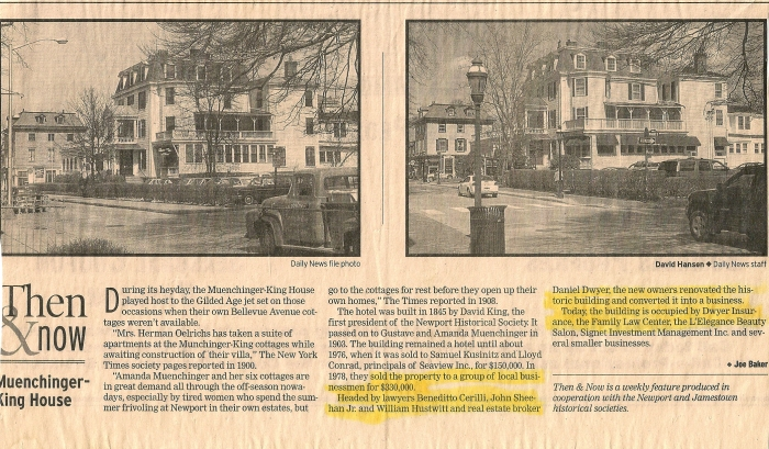 Muenchinger-King House, Then & Now, Newport Daily News