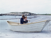 JFK and John Jr. in row boat