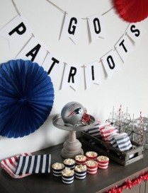 New England Patriot's Football Party