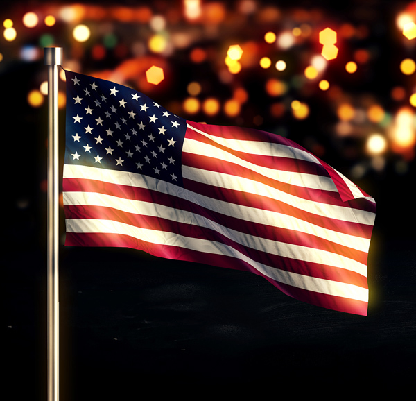 Flag Etiquette, when flying the U.S. flag at night.