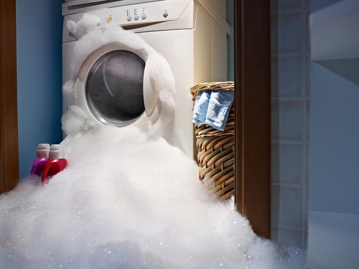 Washing machine flood