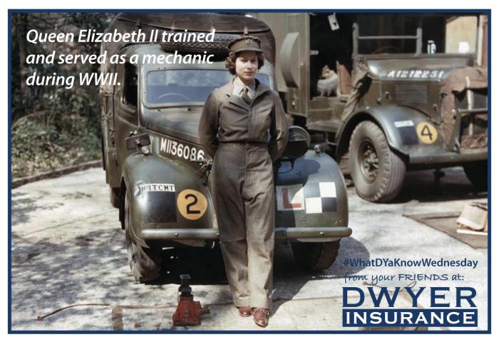 Queen Elizabeth II is a trained mechanic!