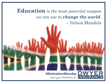 Education is the most powerful weapon we can use to change the world. – Nelson Mandela