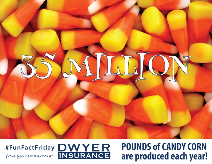 Nearly 35 million pounds of candy corn are produced each year.