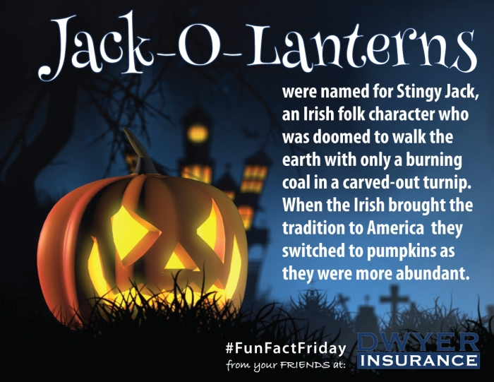 Jack-O-Lanterns were named for Stingy Jack, an Irish folk character who was doomed to walk the earth with only a burning coal in a card-out turnip. When the Irish brought the tradition to America they switched to pumpkins as they were more abundant.