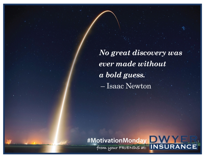 """""""No great discovery was ever made without a bold guess."""" ― Isaac Newton"""