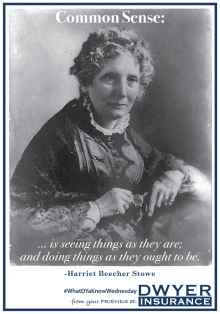 """""""Common sense is seeing things as they are; and doing things as they ought to be."""" ― Harriet Beecher Stowe"""
