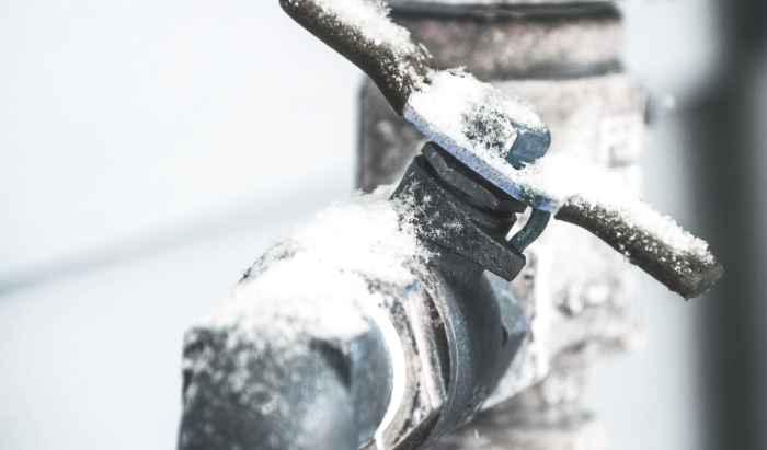 Frozen pipe bursts