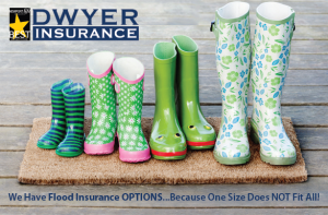 Dwyer Insurance has numerous flood insurance options from which we will select a policy perfectly tailored to suit your property and budget.