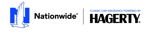 Nationwide-Hagerty Classic Car Insurance logos
