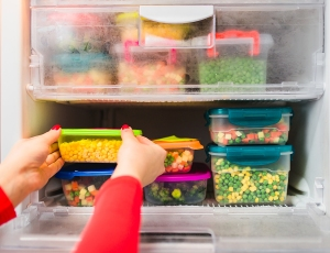 Check frozen food for spoilage after a power outage