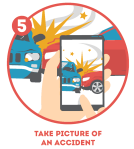 Take pictures of the accident
