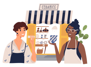 Local businesses often hire people with a better understanding of the products they are selling and take more time to get to know customers and provide more personalized service.
