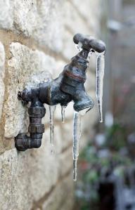 Frozen water faucet